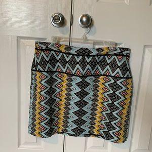 Fun tribal print LOFT skirt size 14